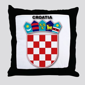 Croatia Throw Pillow