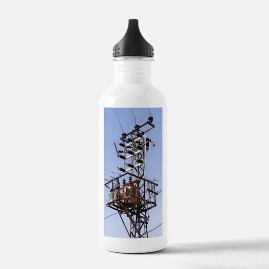 Electricity pylon in G Water Bottle