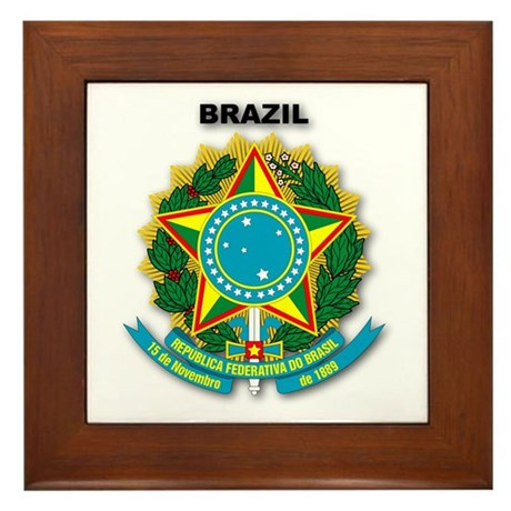 Brazil Framed Tile