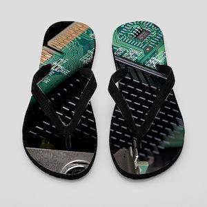Electronic waste Flip Flops