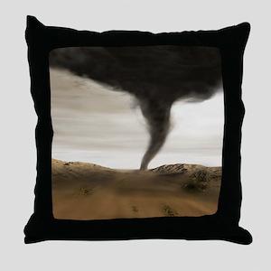 Computer illustration of a tornado Throw Pillow