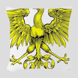 Yellow Phoenix Woven Throw Pillow