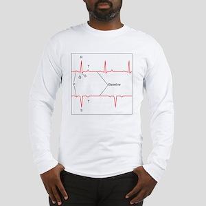 ECG of a normal heart rate, ar Long Sleeve T-Shirt