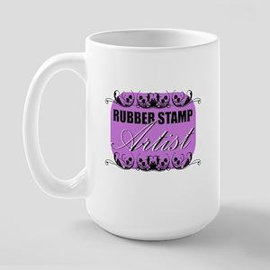 Rubber Stamp Artist Large Mug