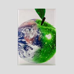 Computer artwork of half Earth an Rectangle Magnet