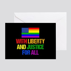 LGBT American Flag Greeting Card