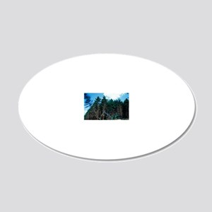 Commercial forestry 20x12 Oval Wall Decal