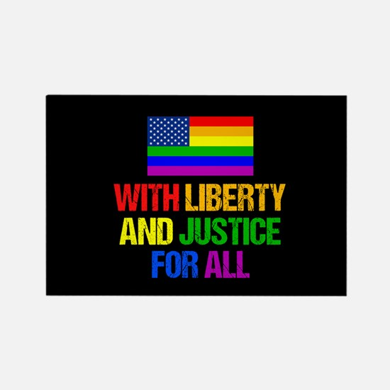 LGBT American Flag Rectangle Magnet