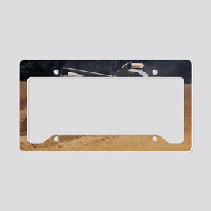 Combine harvester License Plate Holder