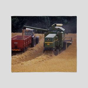 Combine harvester Throw Blanket