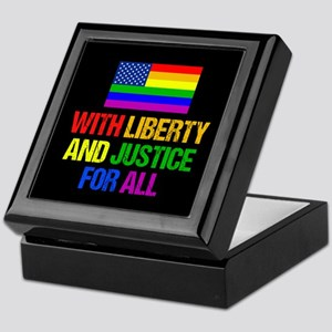 LGBT American Flag Keepsake Box