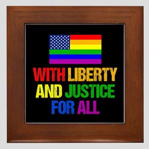 LGBT American Flag Framed Tile