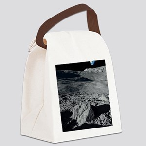 Earth from the Moon, artwork Canvas Lunch Bag