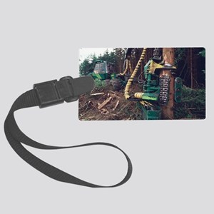 Commercial forestry Large Luggage Tag