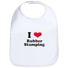 I Love Rubber Stamping Bib