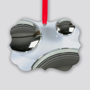 Drops of liquid mercury Picture Ornament