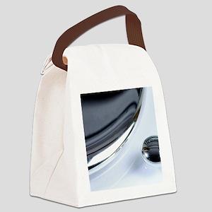 Drops of liquid mercury Canvas Lunch Bag