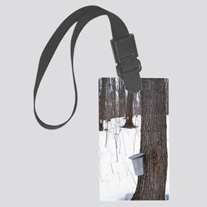 Collecting maple tree sap Large Luggage Tag