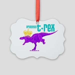 Princess T-Rex Picture Ornament