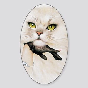 Domestic cat, conceptual image Sticker (Oval)
