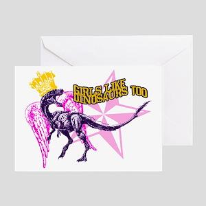 Girls Like Dinosaurs Too - Velocirap Greeting Card