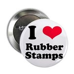 I Love Rubber Stamps Button