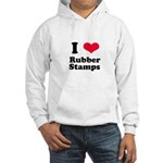 I Love Rubber Stamps Hooded Sweatshirt