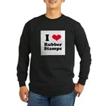 I Love Rubber Stamps Long Sleeve Dark T-Shirt