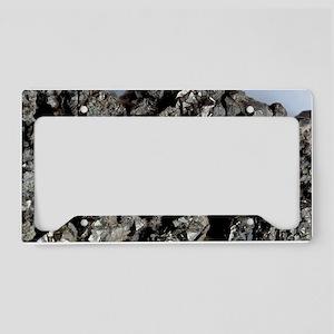 Cobaltine mineral, cobalt ore License Plate Holder