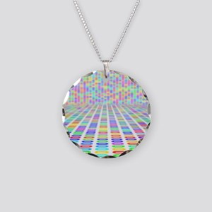 DNA sequence, abstract artwo Necklace Circle Charm