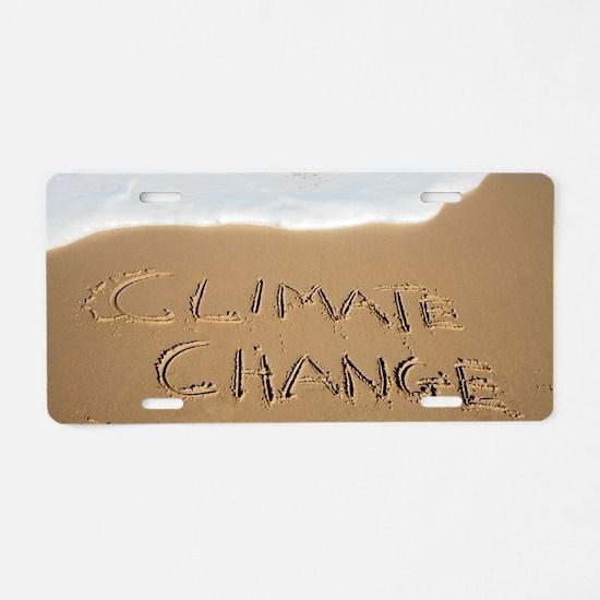 Climate change, conceptual  Aluminum License Plate