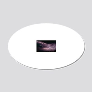 Cloud-to-cloud lightning ove 20x12 Oval Wall Decal