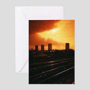 City landscape Greeting Card