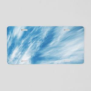 Cirrus clouds Aluminum License Plate