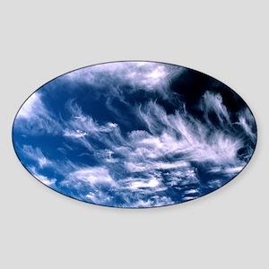 Cirrus clouds Sticker (Oval)