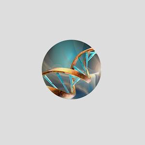 DNA molecule, artwork Mini Button