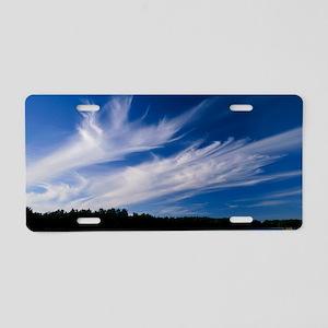Cirrus 'Mare's tails' cloud Aluminum License Plate