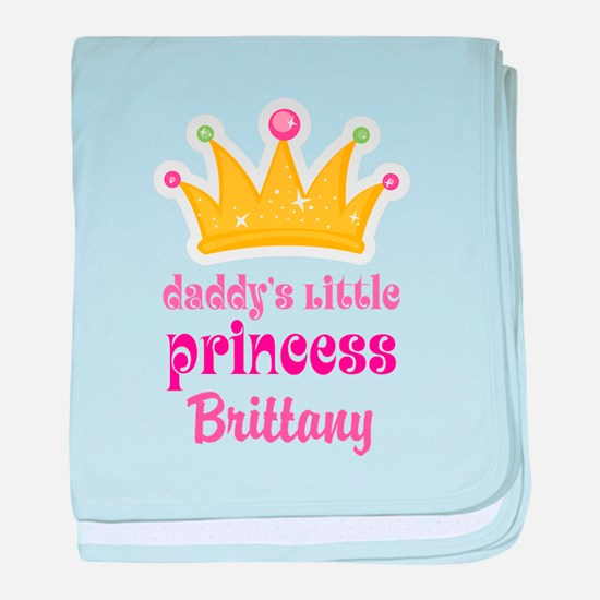 Personalized Daddys Little Princess baby blanket