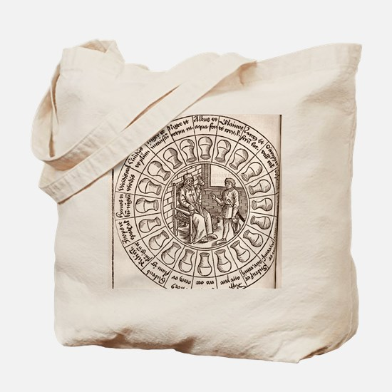 Diagnosis from urine, 16th century Tote Bag