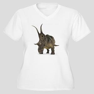 Diabloceratops di Women's Plus Size V-Neck T-Shirt