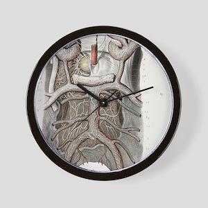 Circle of Willis nerves, 1844 artwork Wall Clock