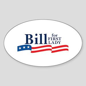 StickerBumper_90_H_F_BillFirstLady1 Sticker