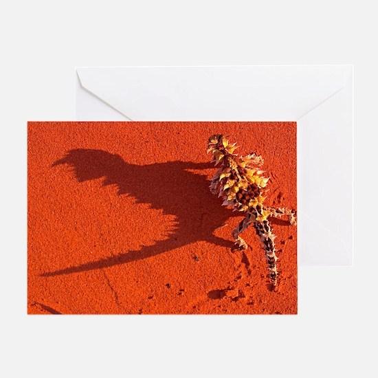 Desert adapted Thorny Devil Australi Greeting Card