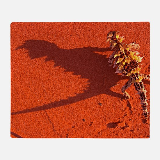 Desert adapted Thorny Devil Australi Throw Blanket