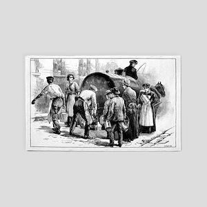 Cholera epidemic, 19th century 3'x5' Area Rug