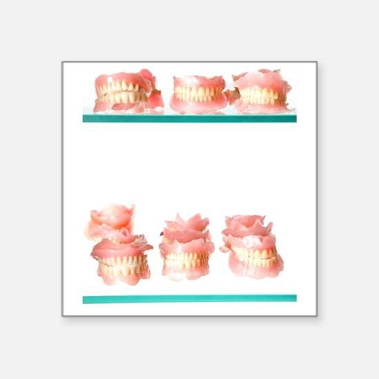 "Dental moulds Square Sticker 3"" x 3"""