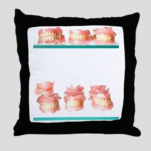 Dental moulds Throw Pillow