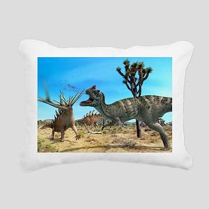 Ceratosaurus and Dacentr Rectangular Canvas Pillow
