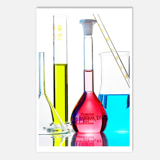 Chemistry glass-ware Postcards (Package of 8)