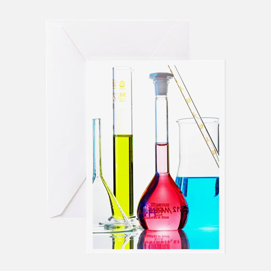 Chemistry glass-ware Greeting Card